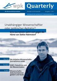 PDF zum Download: WPK-Quarterly II 2011