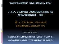 MONETARNA POLITIKA BiH U FUNKCIJI ... -