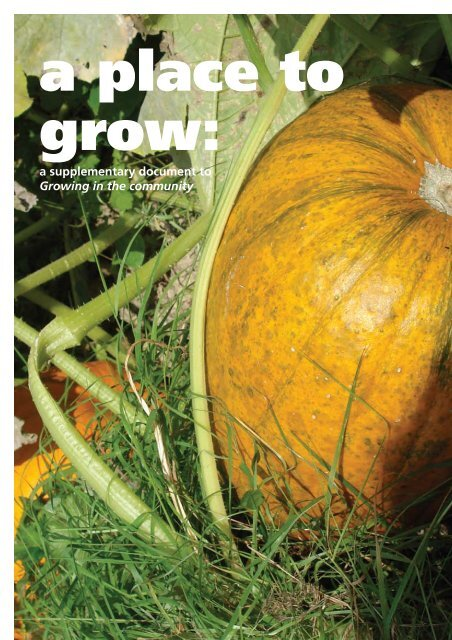 A Place to Grow - National Assembly for Wales
