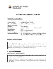 CHILE PROGRAMA EXTRAORDINARIO DE LICENCIATURAS I ...