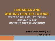 Training Tutors in Library research