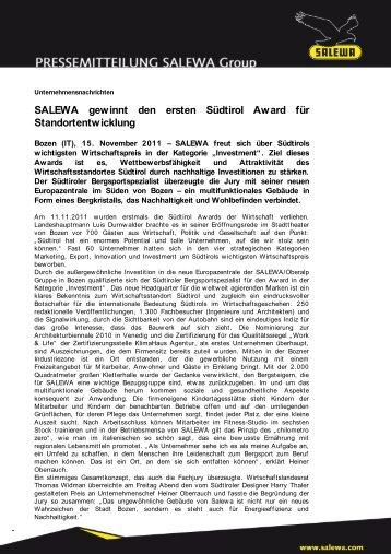 Investment Award (PDF) - Salewa