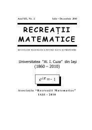 Revista (format .pdf, 3.0 MB) - Recreaţii Matematice