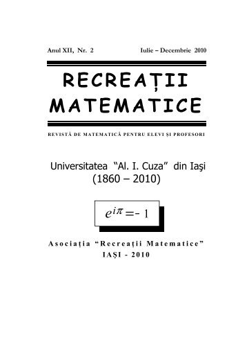 Revista (format .pdf, 3.0 MB) - Recreaţii Matematice