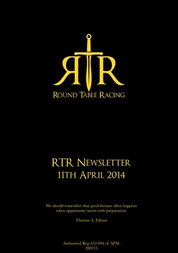 RTR News 11 Apr