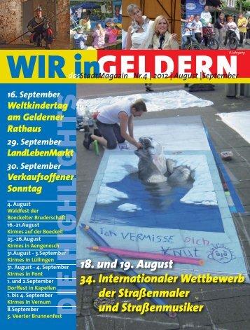 dasStadtMagazin Nr.4 | 2012 | August |September - WIR in Geldern