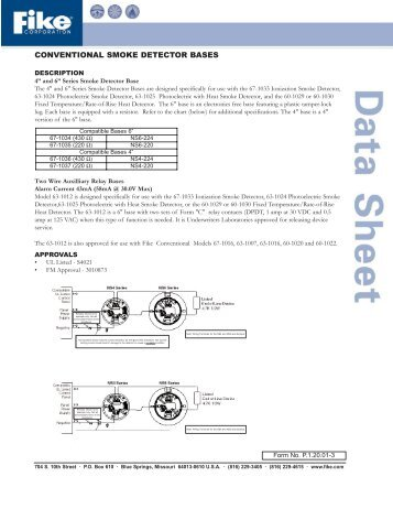 Conventional Smoke Detector Bases P.1.20.01-3 - ORR Protection