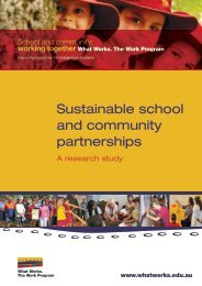 Sustainable school and community partnerships: A ... - What Works