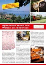Flyer Museums-Welten am Bodensee - Verkehrshaus der Schweiz