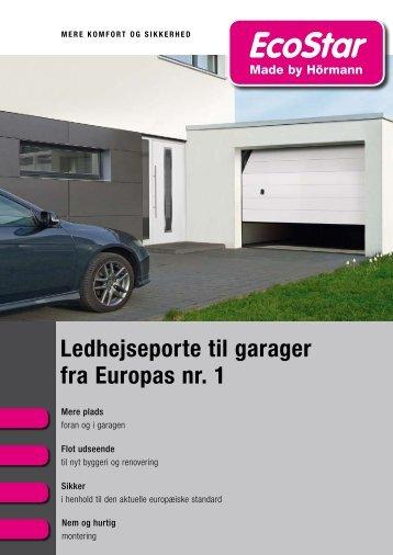 Katalog Ledhejseporte til garager fra Europas nr. 1 - ecostar.de