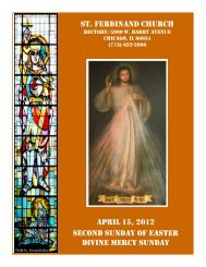 st. ferdinand church april 15, 2012 second sunday of easter divine ...