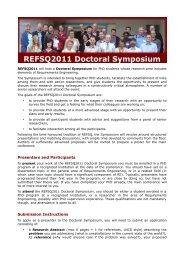 Download REFSQ2011 Doctoral Symposium
