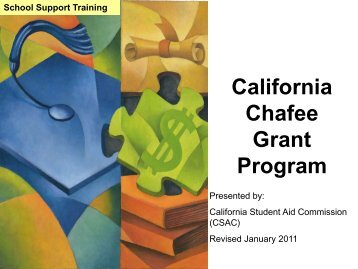 Chafee Grant - CSAC California Student Aid Commission