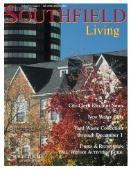 Southfield Living Volume 4, Issue 2 Fall 2006 Winter 2007