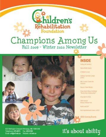Fall 2009 - Winter 2010 Newsletter - Children's Rehabilitation ...