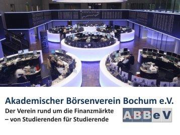 Präsentation - Akademischer Börsenverein Bochum eV