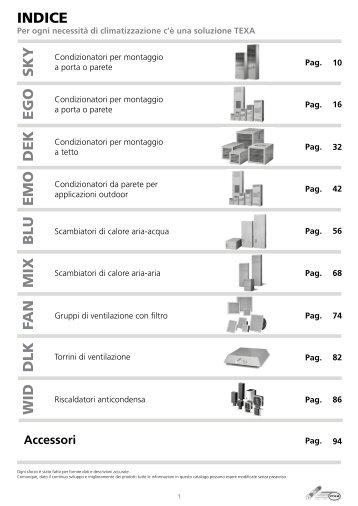 TEXA Pavarini Components Catalogo Completo 2012 - ITA