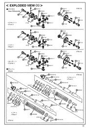 < EXPLODED VIEW (1) > - Kyosho