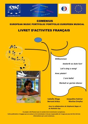 LIVRET D'ACTIVITES FRANÇAIS - European Music Portfolio
