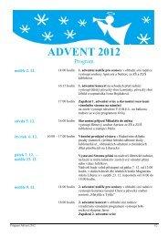 Program Advent 2001 - Statutární město Liberec