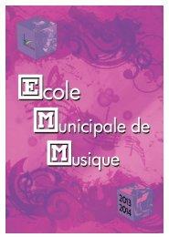 Plaquette Ecole de Musique - Beauchamp