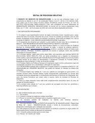 EDITAL DE PROCESSO SELETIVO - AMVAP