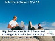 Aradial Wifi Presentation - Aradial Technologies