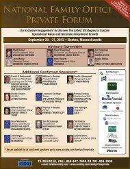 September 20 - 21, 2012 • Boston, Massachusetts - World Congress