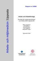 nr 3/2009 - Arbets- och miljömedicin   Uppsala