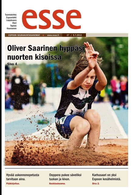 Oliver Saarinen hyppäsi nuorten kisoissa - Espoon ...