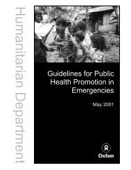 Guidelines for Public Health Promotion in Emergencies - BVSDE