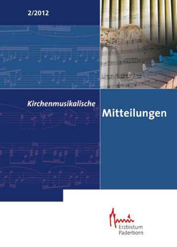 Kirchenmusikalischen Mitteilungen - Kirchenmusik im Erzbistum ...