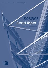 UAC Annual Report - 2007/2008 - Universities Admissions Centre
