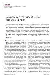 Varusmiesten rasitusmurtumien diagnoosi ja hoito - Duodecim