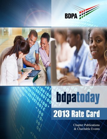 2013 Rate Card - bdpatoday