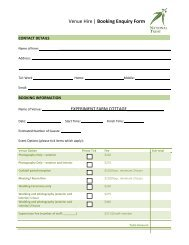 Download Booking Form - National Trust of Australia