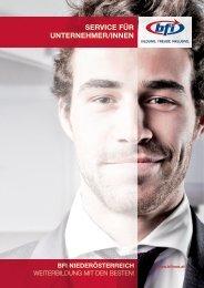 Service für UnternehmerInnen - BFI NÖ