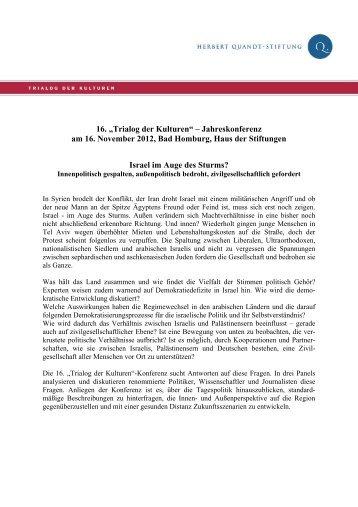 "16. ""Trialog der Kulturen"" – Jahreskonferenz am 16. November 2012 ..."