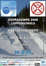 hopeasompa 2008 loppukilpailu mäki ja yhdistetty lahti 8.-9.3.2008