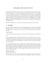 Biostatistics 208, Lab #6 2/10/11 1 Linearity