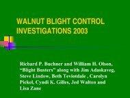 Walnut Blight Report 2004 Stanislaus - Tehama County