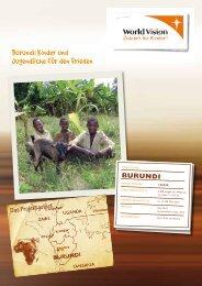 Burundi: Kinder und Jugendliche für den Frieden - World Vision