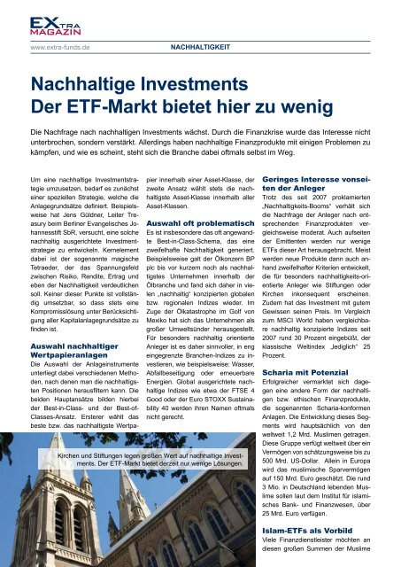 ETf-Matrix - EXtra-Magazin