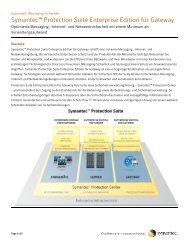 Symantec™ Protection Suite Enterprise Edition für Gateway