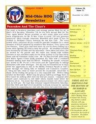 Mid-Ohio HOG Newsletter - Psndealer.com psndealer