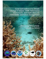 Coral reef resilience to climate change in Saipan ... - NODC - NOAA