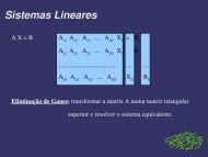 Sistemas Lineares - Nautilus