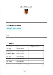 Service Definition - ADNS Domain v0 4 - UNSW IT