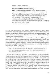 Frieden und Friedensforschung – Das Verfassungsgebot und seine ...