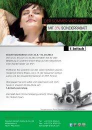 Online-Shop Aktion 21.6-31.10.2013 - Friedrich Britsch GmbH & Co ...